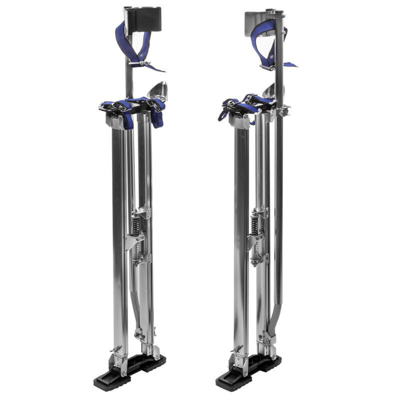 "36"" - 48"" Adjustable Aluminum Drywall Stilts Painting Painter Taping Silver"