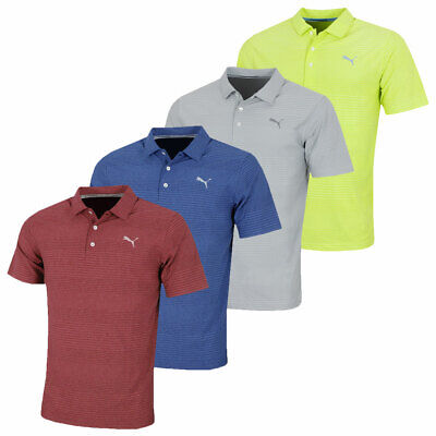 Puma Golf Mens Aston DRYCELL UPF 50+ Moisture Wicking Polo Shirt 45% OFF RRP