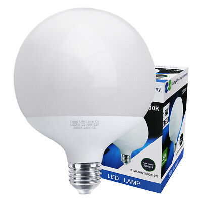 LED Globe Light Bulb 18w Replacement for 162w E27 PURE WHITE Energy...