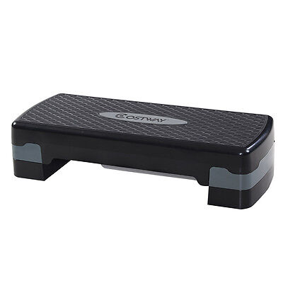 "New 27'' Fitness Aerobic Step Adjust 4"" - 6""Exercise Stepper w/Risers Home Gym"