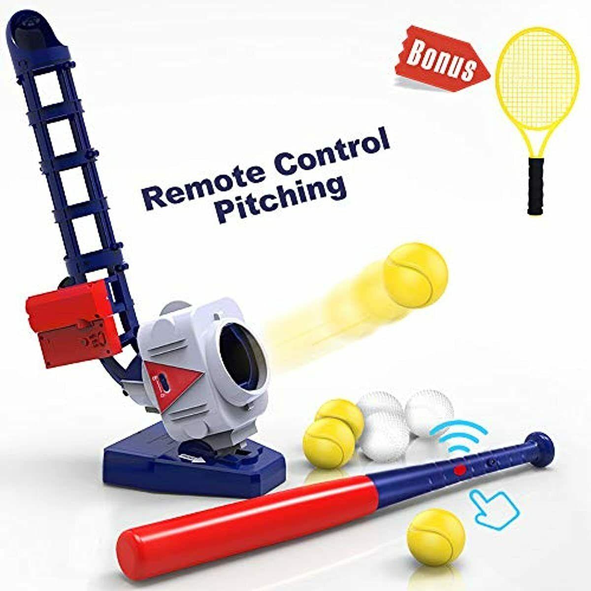 iPlay, iLearn 2 in 1 Baseball & Tennis Pitching Machine, Rem