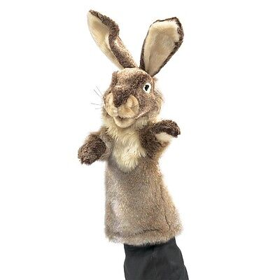 (Rabbit Stage Hand Puppet with Movable Mouth & Paws, Folkmanis MPN 2800, 3 & Up)