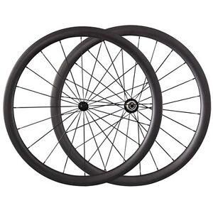 Ship From UK 38mm Clincher Ultra Light Carbon Wheels Road Bike Wheelset