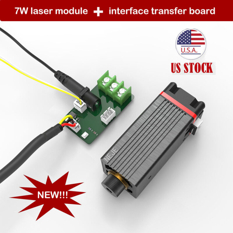 NEJE 7W 450nm laser module /head for LASER engraving Machine & Transfer board US