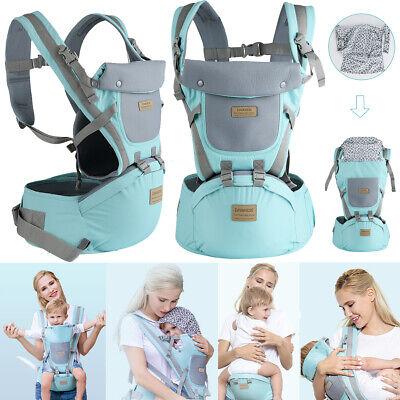9 in1 Ergonomische Babytrage Kindertrage Bauchtrage Rückentrage 4 Tragpositionen ()