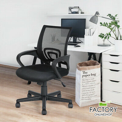 Adjustable Ergonomic Mesh Office Chair Swivel Computer Desk Task Mid-back Black