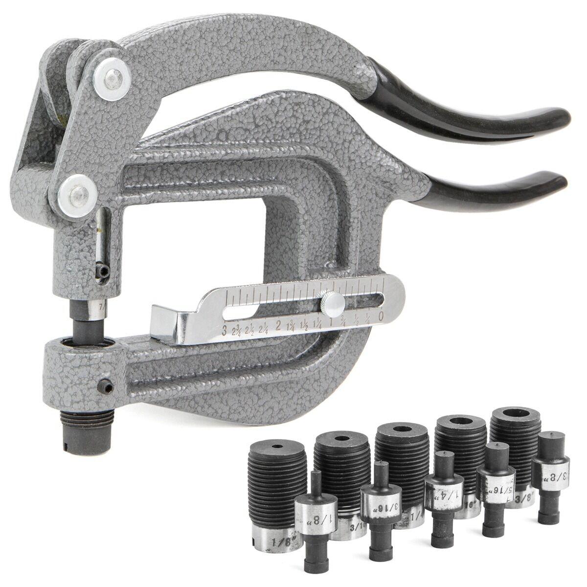 Sheet Metal Rivet Tool : Power punch deep thorat kit sheet metal rivet hole