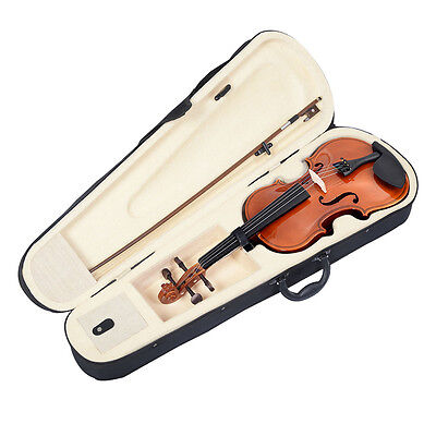 Купить Unbranded - Full Size 4/4 Natural Acoustic Violin Fiddle with Case Bow New