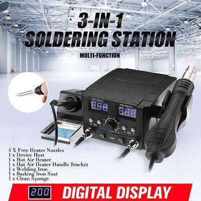 750w Digital Brushless Heat Gun Soldering Iron Station Smd Hot Air Heater Gun