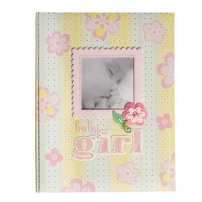 C.R. Gibson Memory Book Baby Photo Album Toddler Girls Scrapbook Album Journal