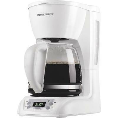 Black & Decker Wht 12-Cup Coffee Maker Deluxe 12 Cup Coffee Maker
