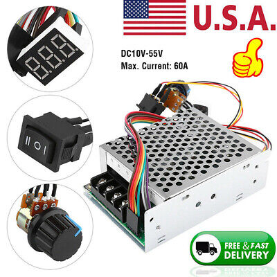Dc10-55v 100a 5000w Reversible Dc Motor Speed Controller Pwm Control Soft Start
