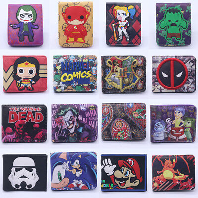 New Pokemon Star Wars Leather Wallet Coin ID Credit Card Holder Best