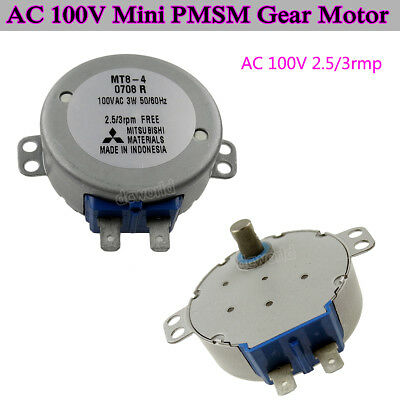 Mt8-4 Ac 100v 110v 50tyz 3rpm Mini Pmsm Reduction Gear Motor Fan Head Motor Diy