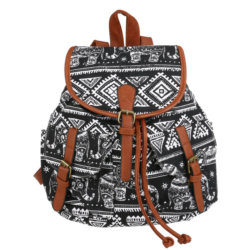 tasche retro elephant m dchen segeltuch rucksack reisetasche schulranzen damen ebay. Black Bedroom Furniture Sets. Home Design Ideas