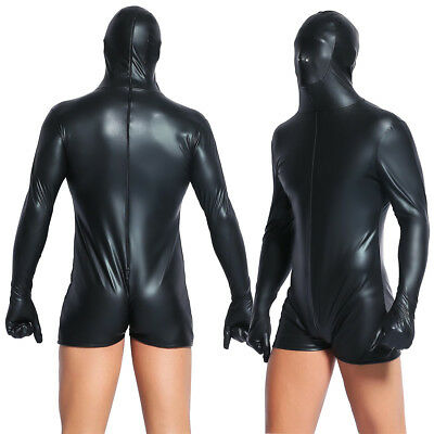 tai Catsuit Playsuit Leotard Gloves Sensorische Deprivation (Herren Zentai)