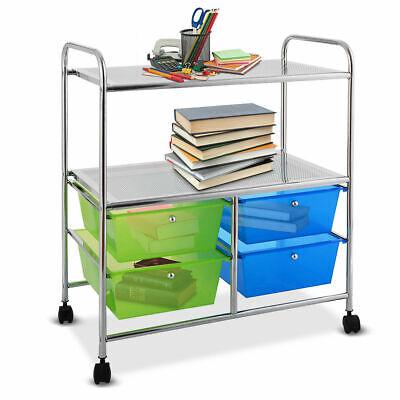 4 Drawer Rolling Storage Cart shelf Scrapbook Paper Office S