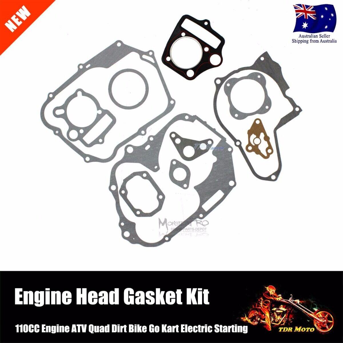 NEW ATV QUAD 110cc ENGINE HEAD GASKET SET CYLINDER GO KART DIRT BIKE 10 PIECES