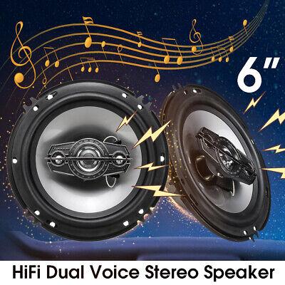 "Pair) 6"" inch Car Audio Stereo Speaker 350 Watts Coaxial C"