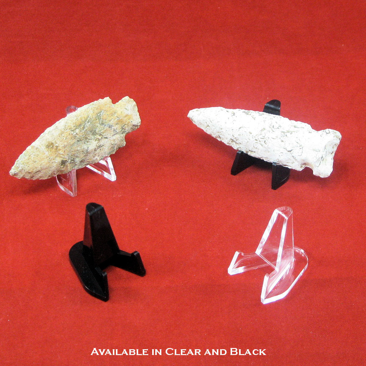 small plastic easel display stands for arrowheads