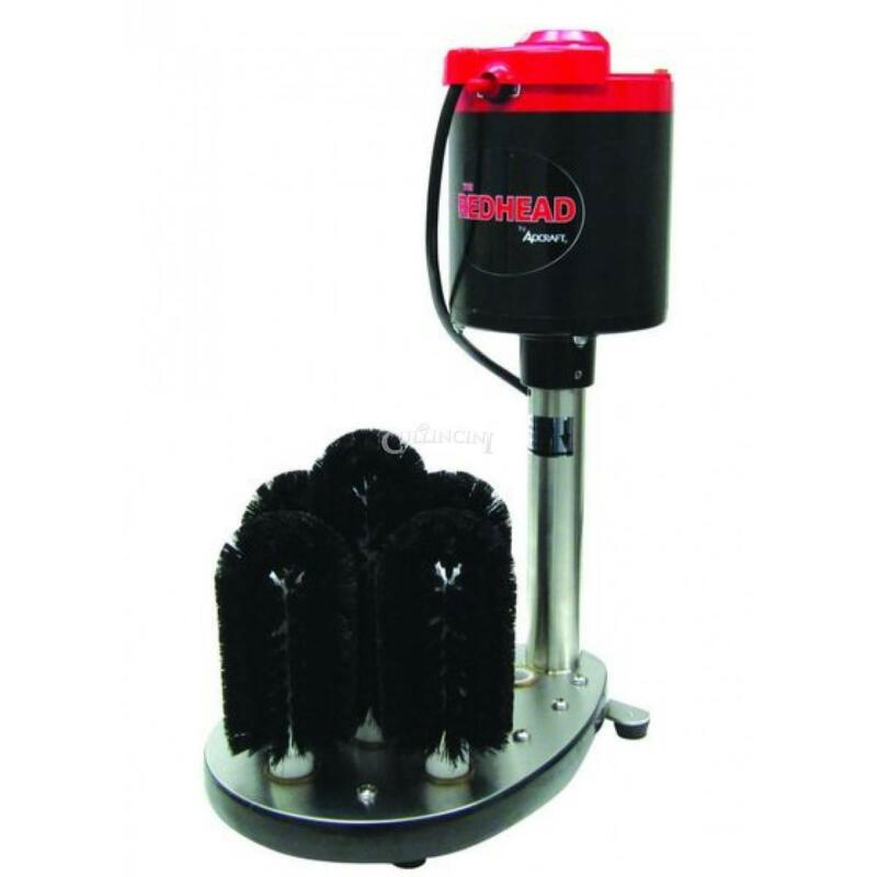 Adcraft Electric Glass Washer Bar Glass Redhead Brushes - Gw-120