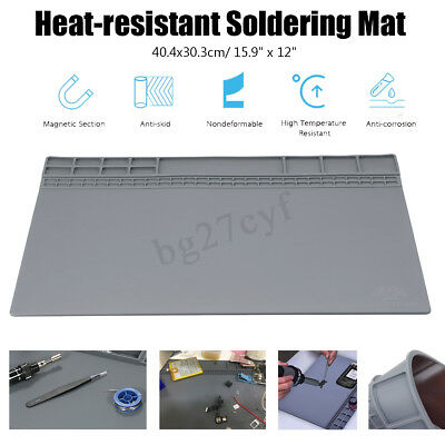 Silicone Work Desk Heat Resistant Mat Insulation Kit Soldering Pad