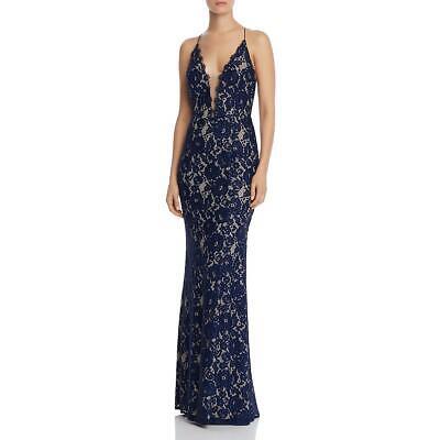 Aidan by Aidan Mattox Women's Sleeveless Lace V-Neck Mermaid Gown