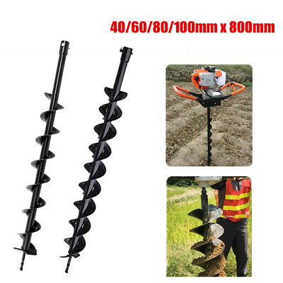 406080100mm X 800mm Earth Auger Drill Bit For Gas Powered Post Hole Digger