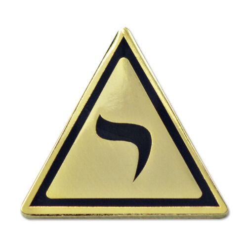14th Degree Masonic Lapel Pin - [Gold & Black][1