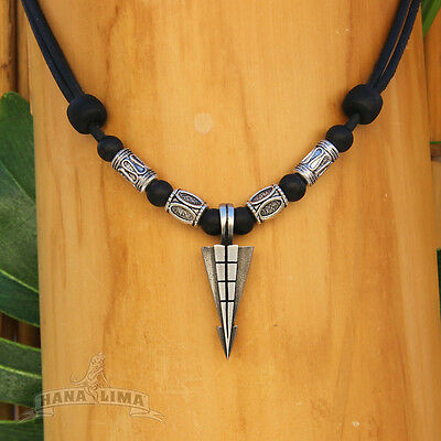 Handgefertigte Halskette Lederkette Surferkette Herrenkette Herrenhalskette Surf