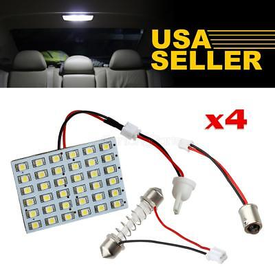 4x Universal White 36-LED Interior Lights Panel Lamps Kit Dome Map Bulbs T4W 12V
