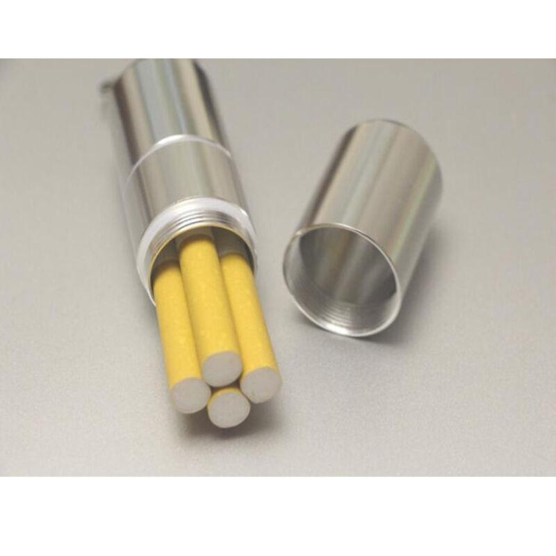 Waterproof Mini Aluminum Cigarette Case Holder Ehonestbuy Round With Key Ring