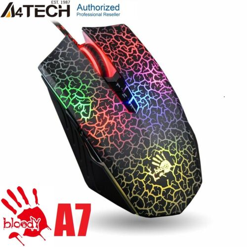 A4TECH Bloody A7/A70 LIGHT STRIKE GAMING MOUSE, OPTICAL, 4000DPI, RGB, 8 BUTTONS