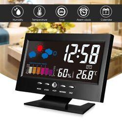LED Weather Station Alarm Clock Time/Date/Week/Alarm/Temp/Humidity Display