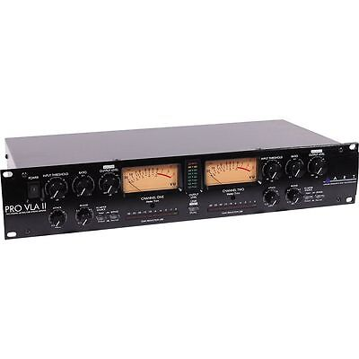 ART Pro VLA II Two Channel Rack Mount Vactrol-Based Compressor - OPEN BOX