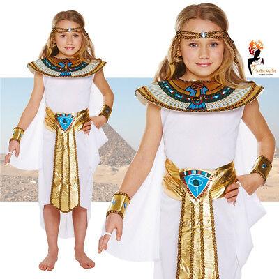 Girls Cleopatra Egyptian Queen Fancy Dress Costume Egypt Kids Book Week Day (Egyptian Costumes Girls)