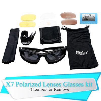 Men Army Sunglasses 4 Lens Kit Military Goggles Polarized Daisy War Game X7