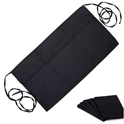 0cc913356ff5 Details about 5Pk Black Waist Aprons Waiter & Waitress Apron with 3 Pockets  Bistro Restaurant