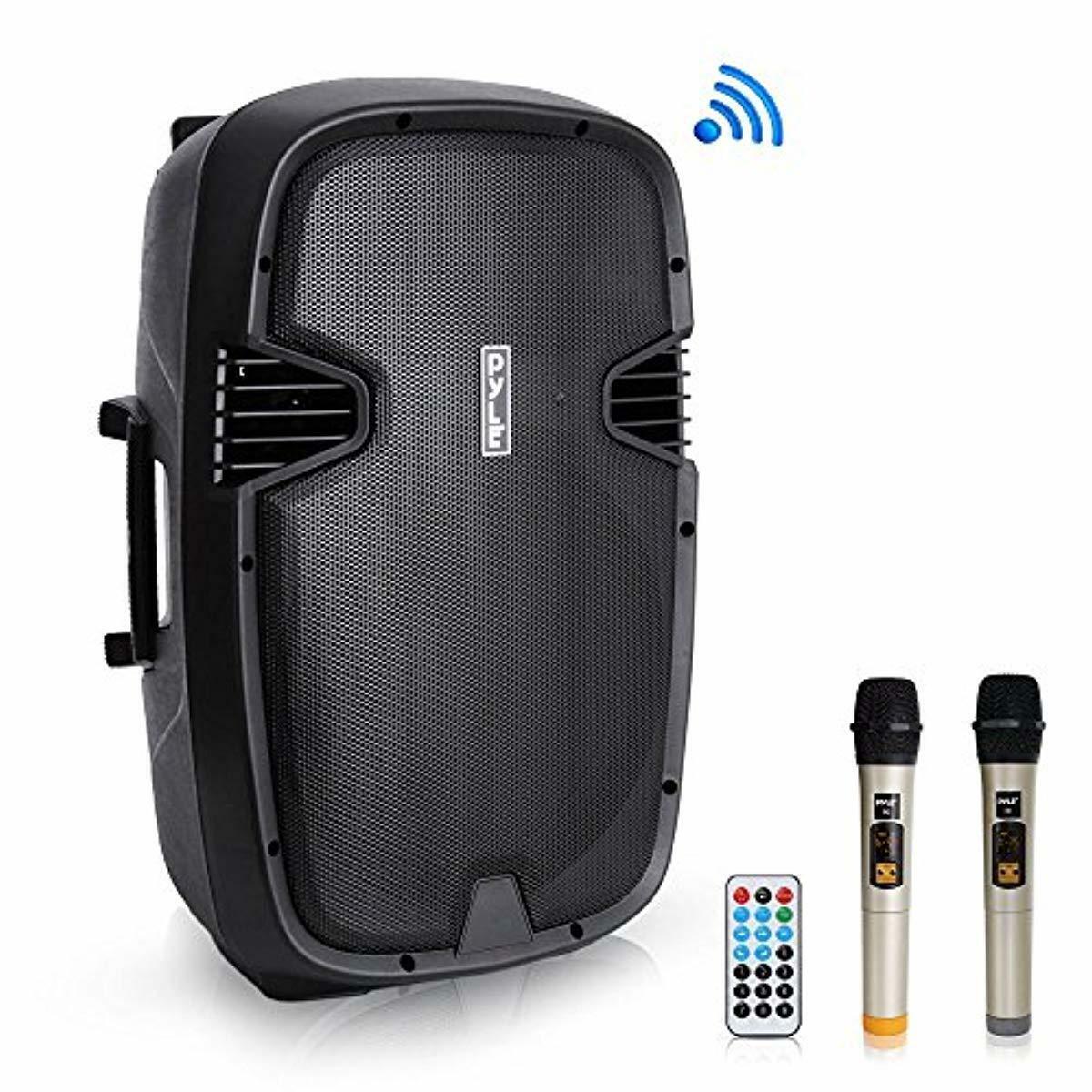 """Pyle 1600 Watt, 15"""" Bluetooth PA Speaker - Indoor/Outdoor Po"""