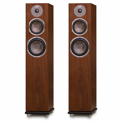 KLH Quincy Floorstanding Speakers - Pair (Walnut)