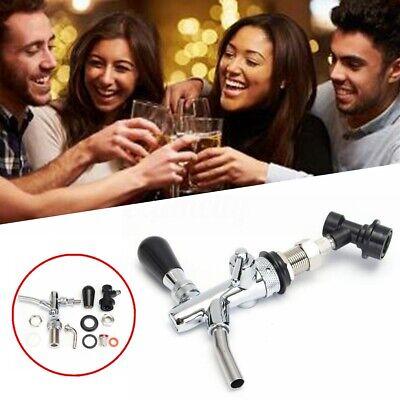 G58 Draft Beer Faucet Dispenser W Flow Controller Chrome Plating Shank Tap Kit