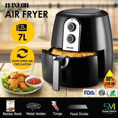 Electric 1800W 5 3 Qt Xl Power Oil Less Air Fryer Food Cooker Deluxe W  Bonus