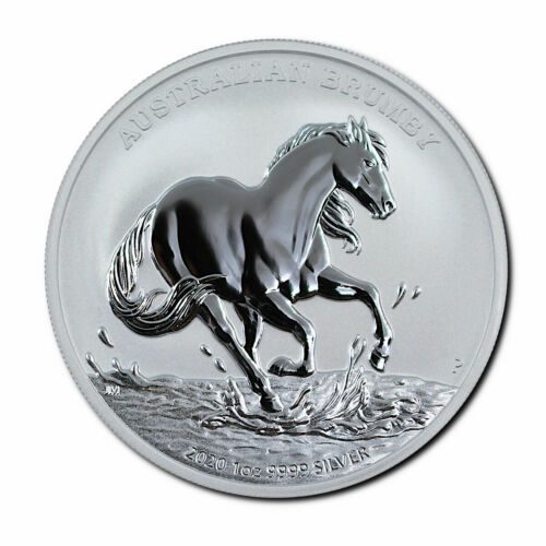 2020 Australia $1 1 oz Silver Brumby Coin GEM BU Brilliant Uncirculated PRESALE