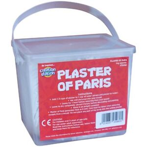 Plaster of Paris Casting moulding Powder For Craft approx 1 kg Tub CT5960