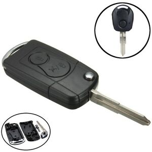 2 Button Flip Remote Key Case Shell Fob For Ssangyong Actyon SUV Rexton Kyron