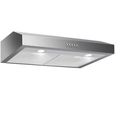 "30"" Under Cabinet Kitchen Range Hood Stainless Steel w/ LED lights 3-Speed 69W"