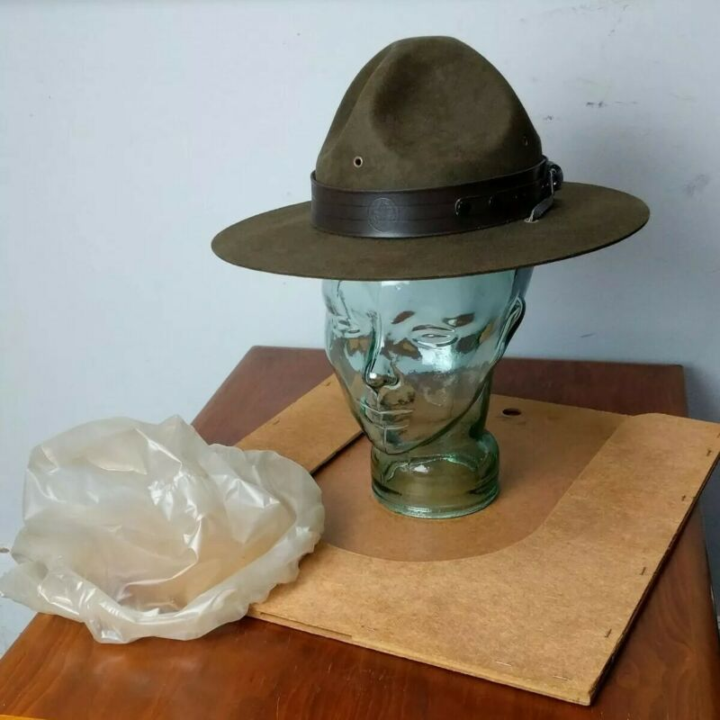 Vintage Official Boy Scout Campaign Hat by Stetson - Size 6 3/4