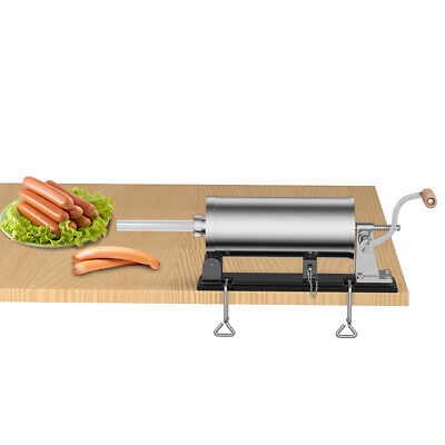 6lbs3.6l Stainless Steel Sausage Meat Stuffer Maker Filler Machine Commercial