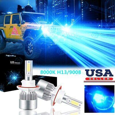 For Jeep Wrangler JK 2007-2018 Upgrade 8000K LED Headlight Kit High Low Bulbs 2x