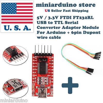 FT232RL 3.3V 5.5V FTDI USB to TTL Serial Adapter Module for Arduino Mini Port